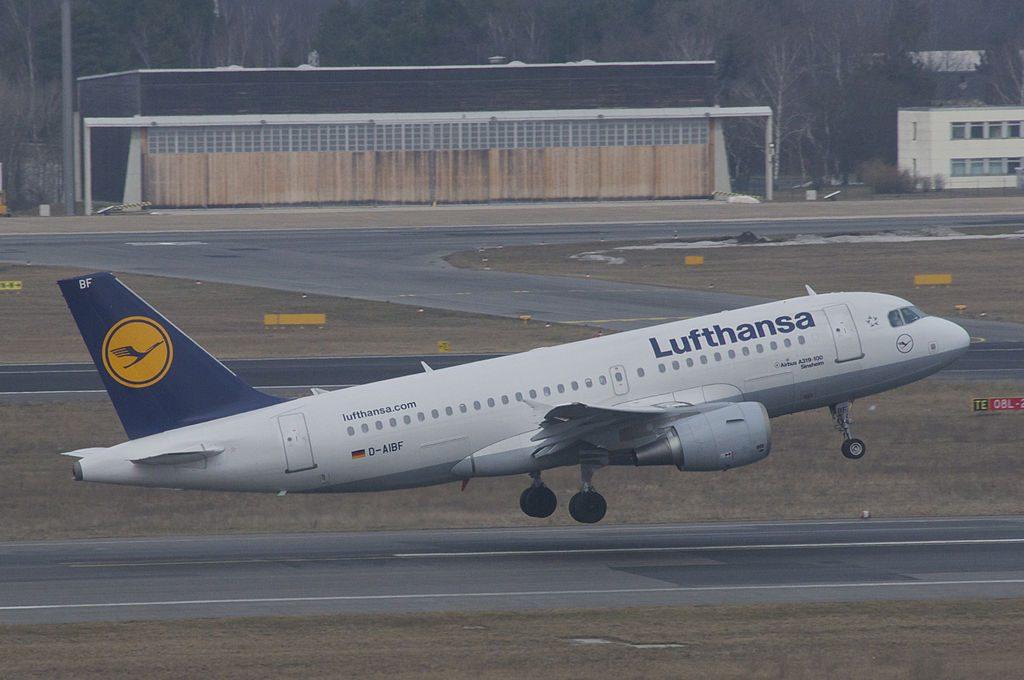 Lufthansa Airbus A319 112 D AIBF Sinsheim at Berlin Tegel Airport TXL