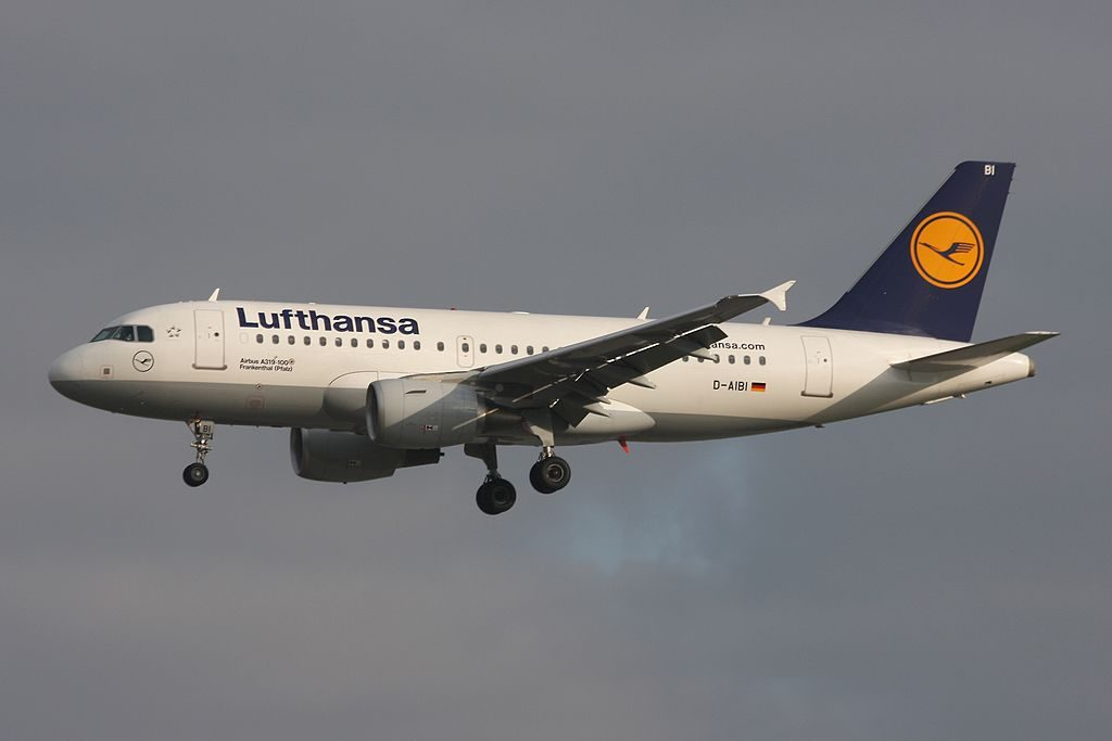 Lufthansa Airbus A319 112 D AIBI Frankenthal Pfalz at Frankfurt Airport