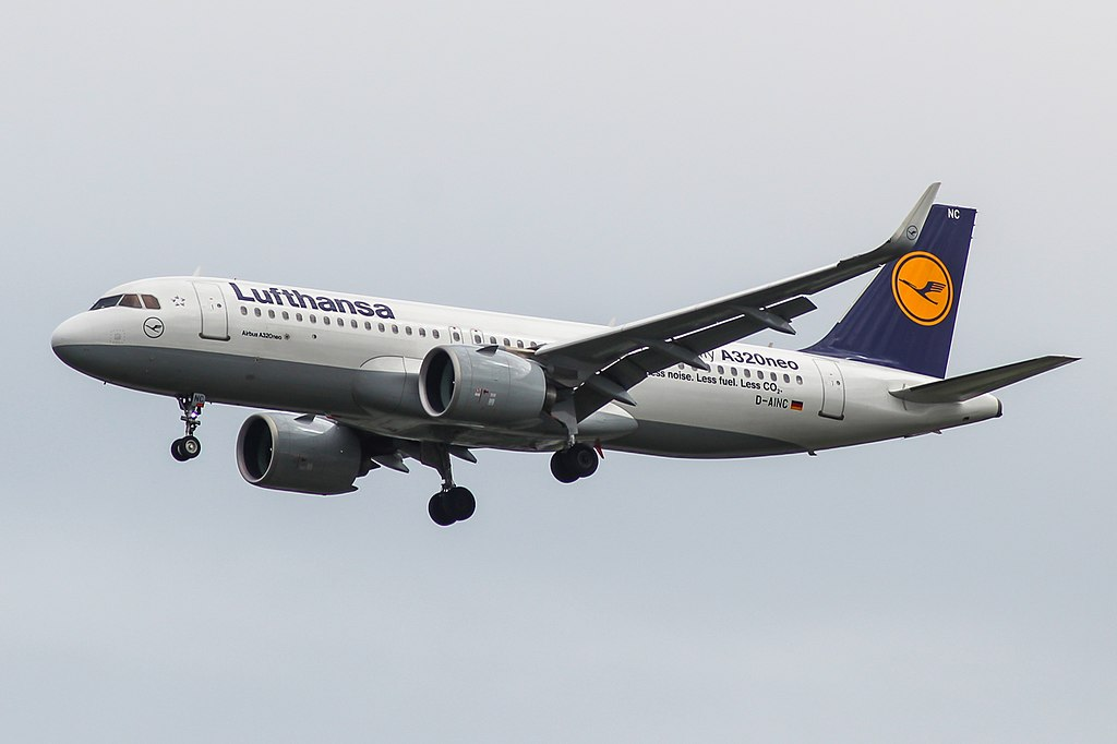 Lufthansa Airbus A320neo D AINC at London Heathrow Airport