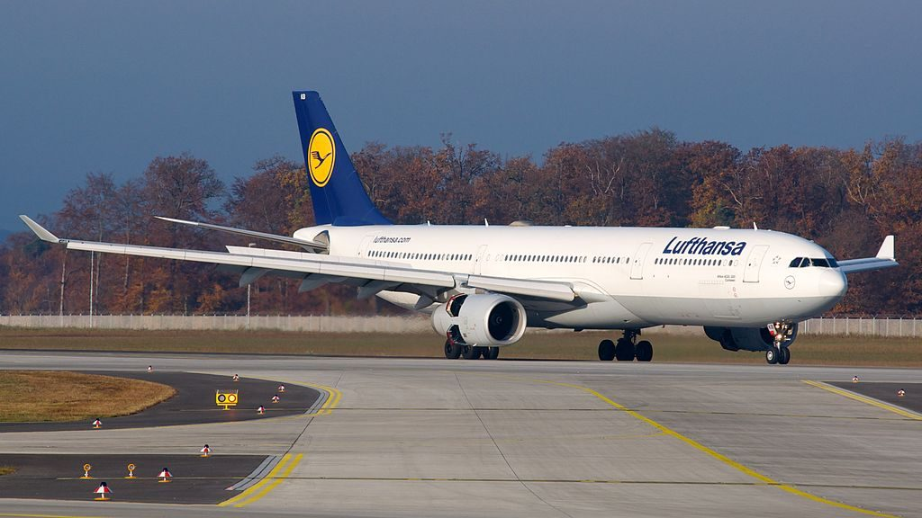 Lufthansa Airbus A330 300 D AIKB Cuxhaven at Frankfurt Airport