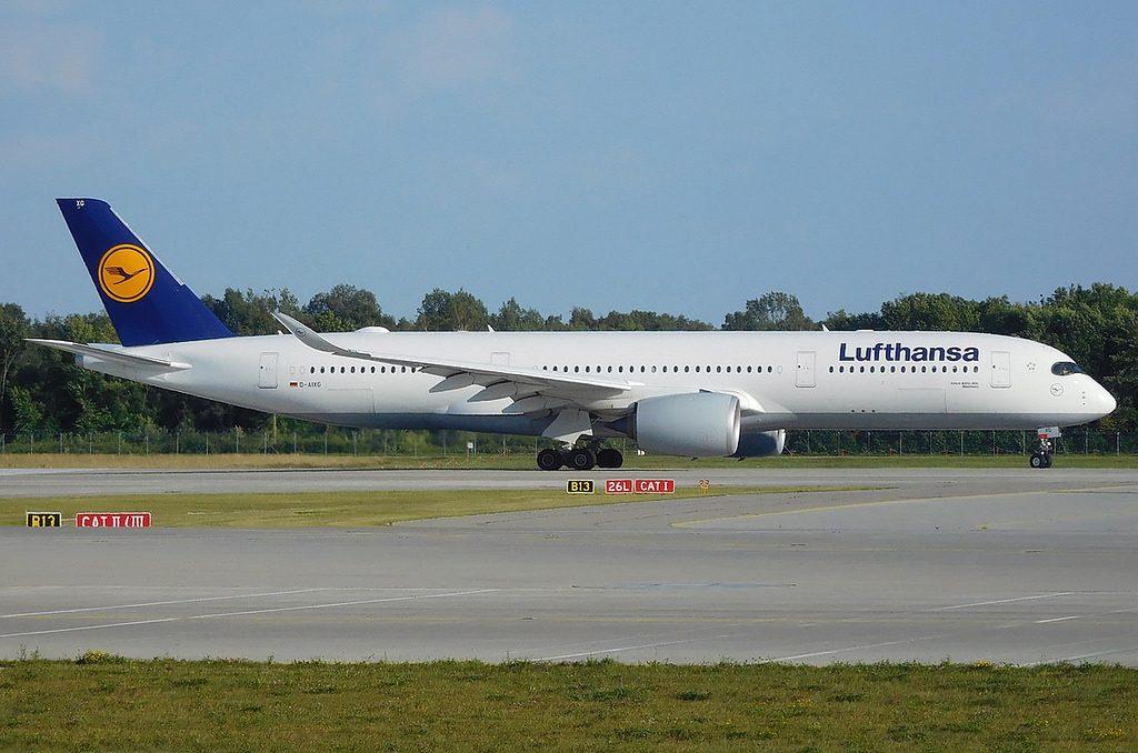 Lufthansa Airbus A350 900 D AIXG Mannheim at Munich Franz Josef Strauss