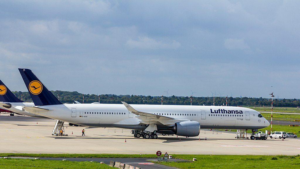 Lufthansa Airbus A350 941 D AIXE Essen at Düsseldorf Airport