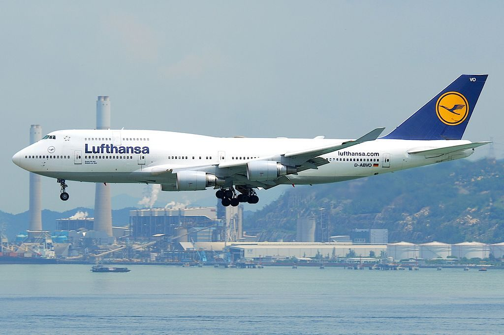 Lufthansa Boeing 747 400 D ABVO Mülheim a.d. Ruhr at Hong Kong International Airport HKG
