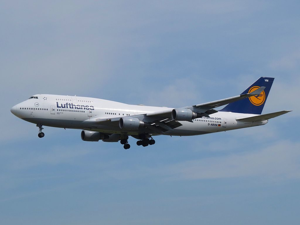 Lufthansa Boeing 747 430 D ABVM Kiel at Frankfurt Airport