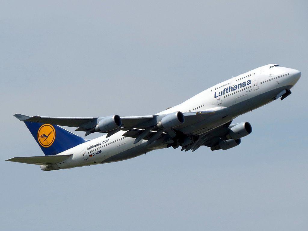 Lufthansa Boeing 747 430 D ABVS at Frankfurt Airport