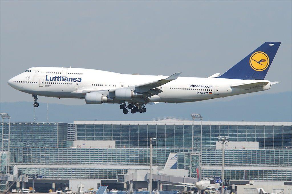 Lufthansa Boeing 747 430 D ABVW Wolfsburg at Frankfurt Airport FRA