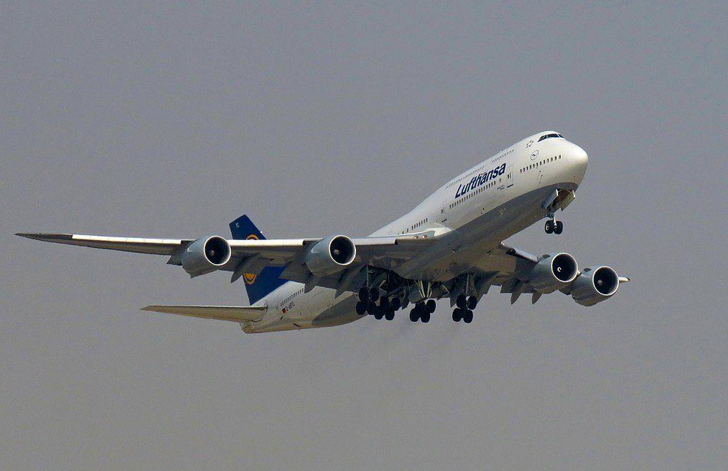 Lufthansa Boeing 747 830 D ABYL Hessen at Beijing Capital International Airport