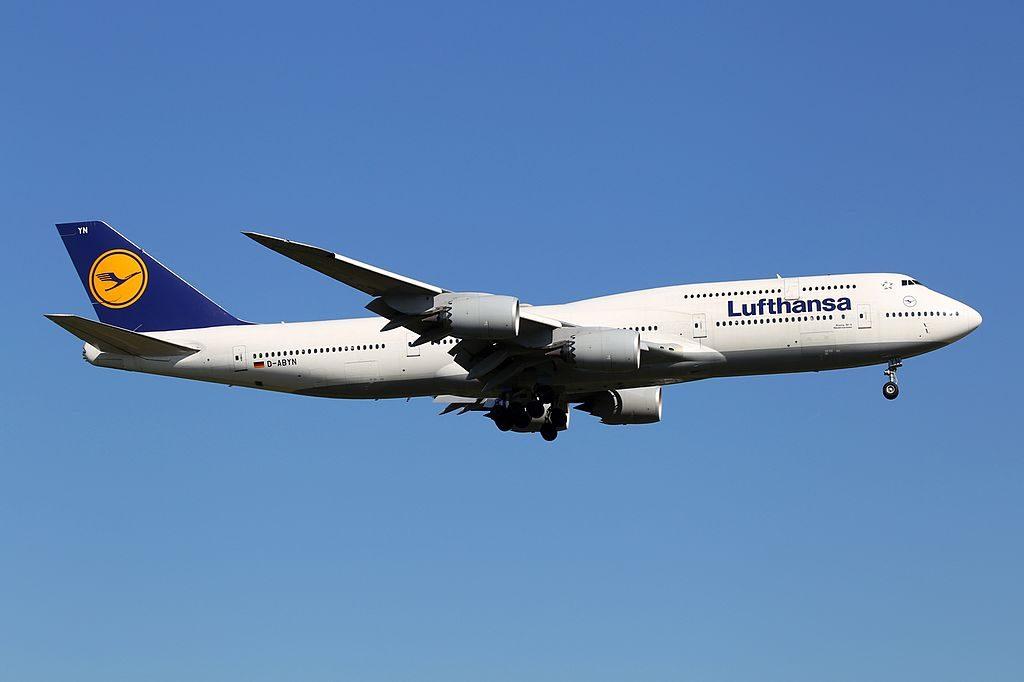 Lufthansa Boeing 747 830 D ABYN Niedersachsen at Frankfurt am Main from Buenos Aires Ezeiza