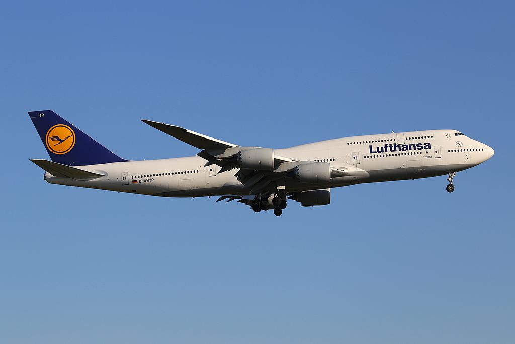 Lufthansa Boeing 747 830 D ABYR Bremen at Frankfurt am Main