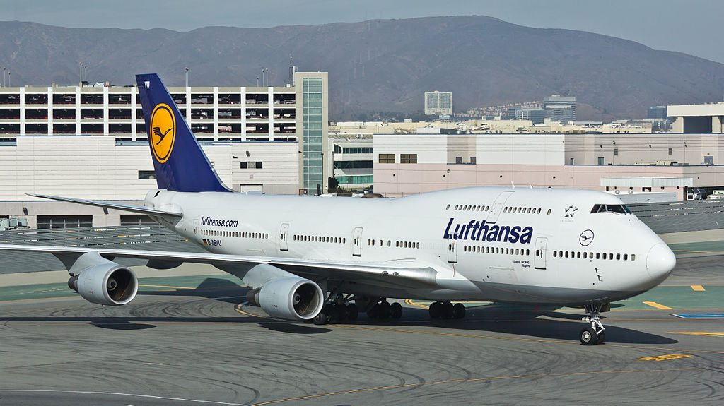 Lufthansa D ABVU Boeing 747 400 at San Francisco International Airport