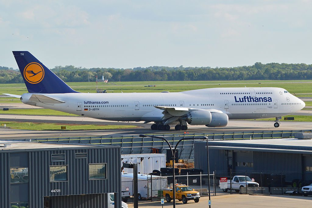 Lufthansa D ABYH Boeing 747 830 Thüringen at Washington Dulles International Airport