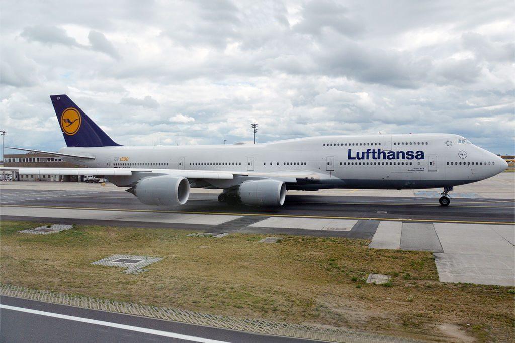Lufthansa D ABYP Boeing 747 830 Nordrhein Westfalen at Frankfurt Airport
