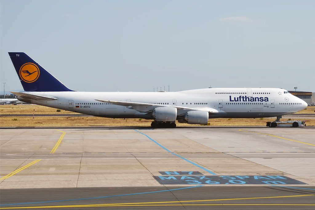 Lufthansa D ABYU Boeing 747 830 Köln at Frankfurt Airport