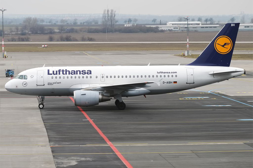 Lufthansa D AIBH Airbus A319 112 Herborn at Prague Ruzyně Airport