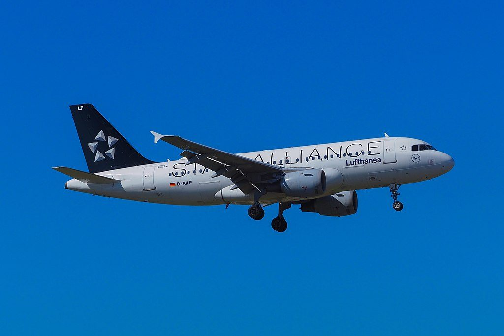 Lufthansa D AILF Airbus A319 114 on Star Alliance Livery Colors at Geneva International Airport