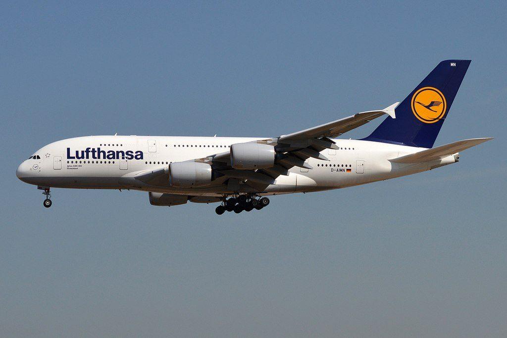 Lufthansa D AIMN Airbus A380 841 Deutschland at Frankfurt Airport