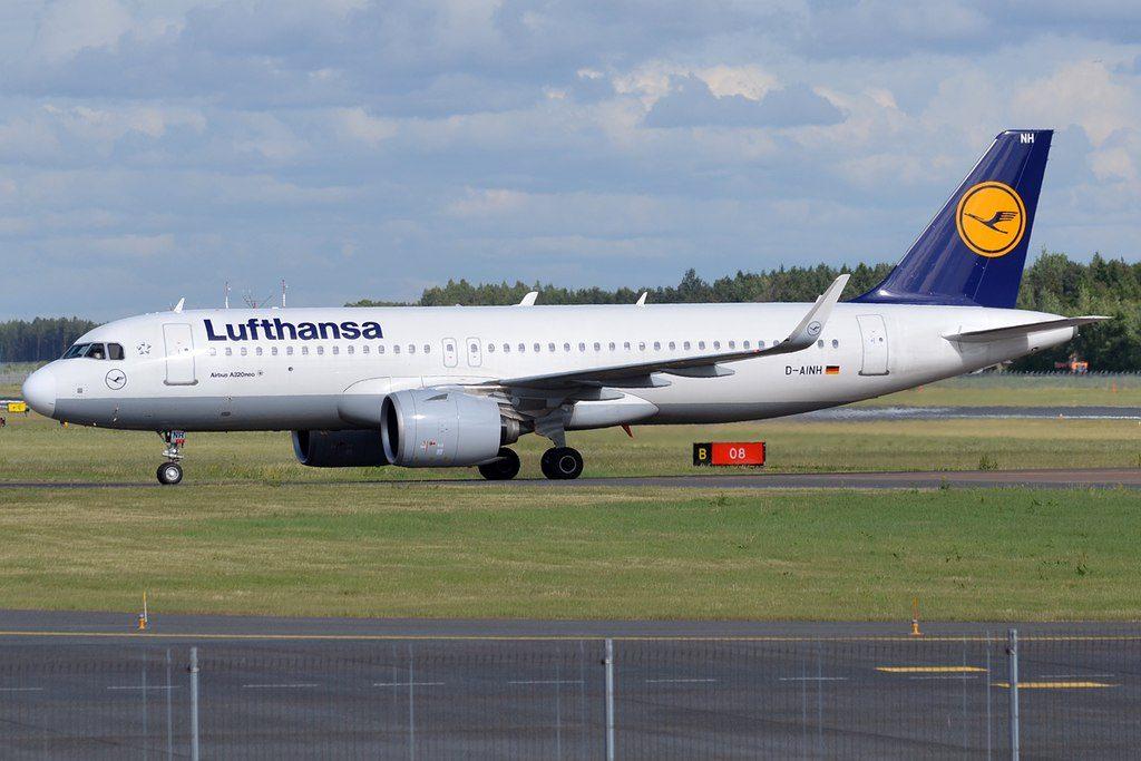Lufthansa D AINH Airbus A320 271N at Tallinn Airport