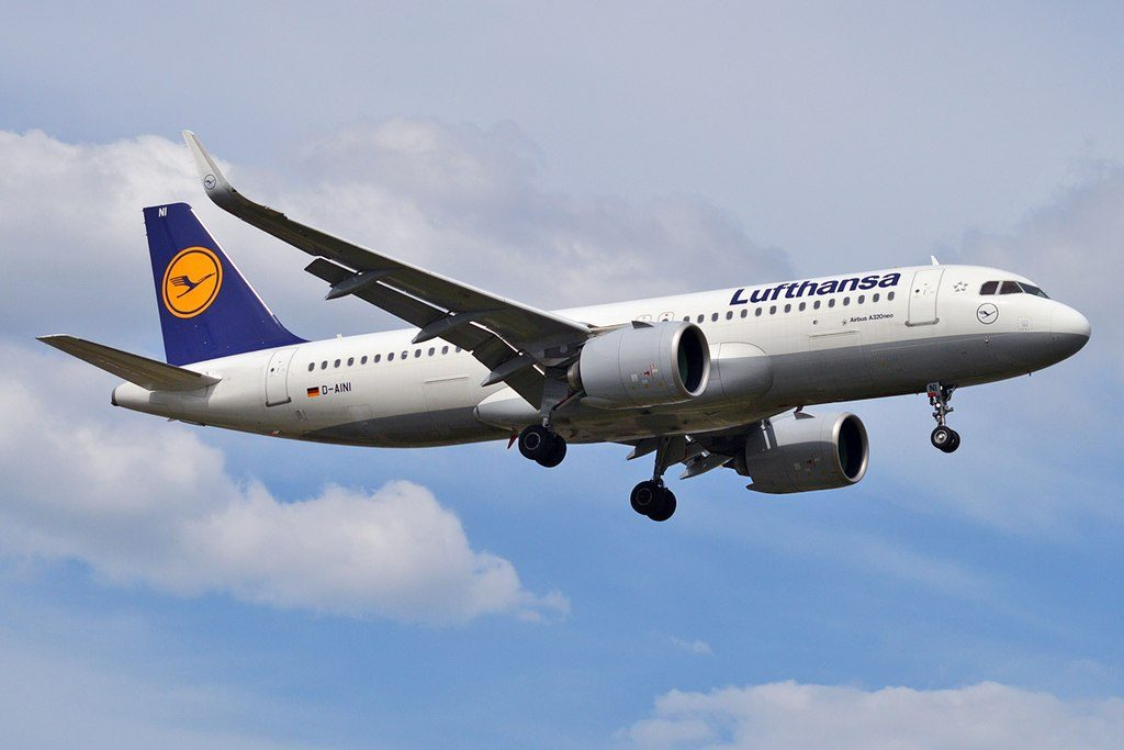 Lufthansa D AINI Airbus A320 271N at Tallinn Airport