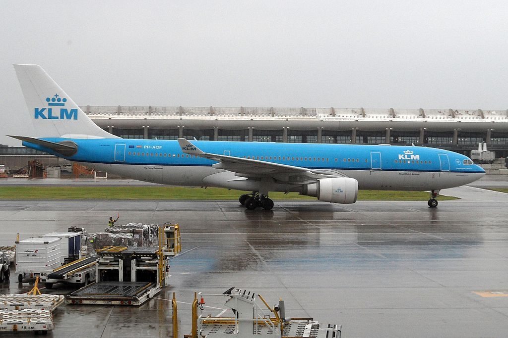 PH AOF Airbus A330 200 of KLM Federation Square Melbourne at Washington Dulles International Airport