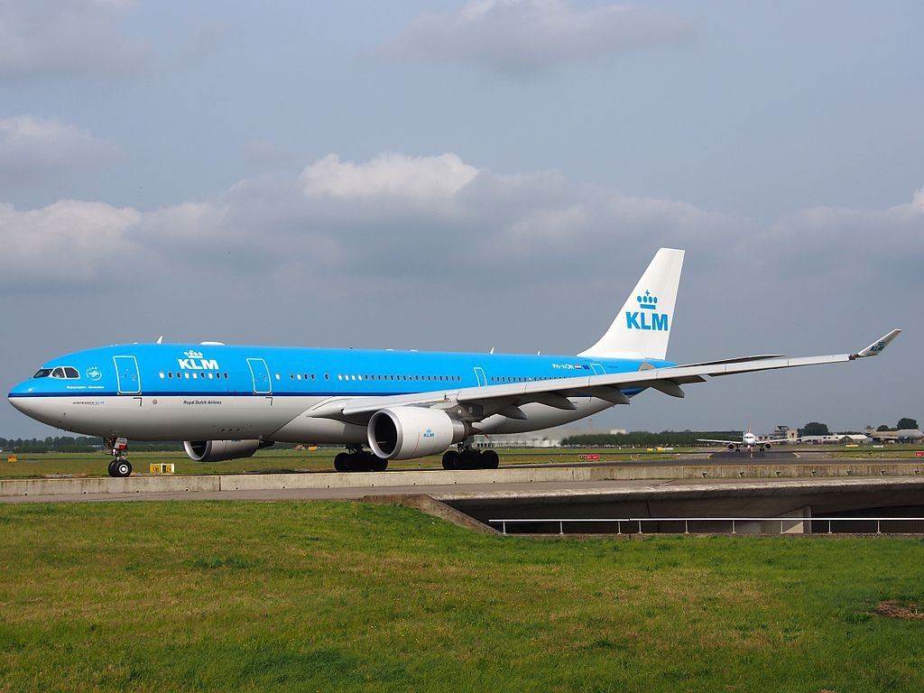 PH AON KLM Royal Dutch Airlines Airbus A330 203 Museumplein Amsterdam at Amsterdam Airport Schiphol