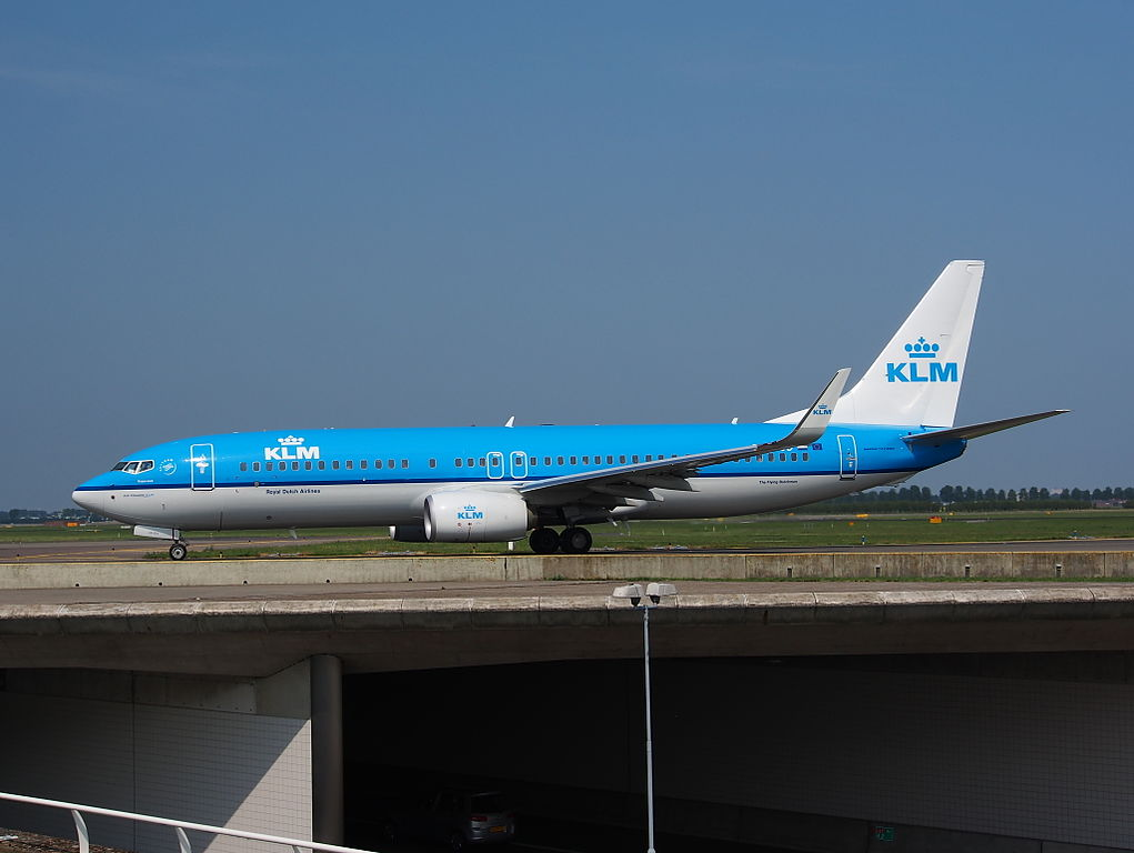 PH BCD KLM Royal Dutch Airlines Boeing 737 8K2WL Koperwiek Redwing at Amsterdam airport Schiphol