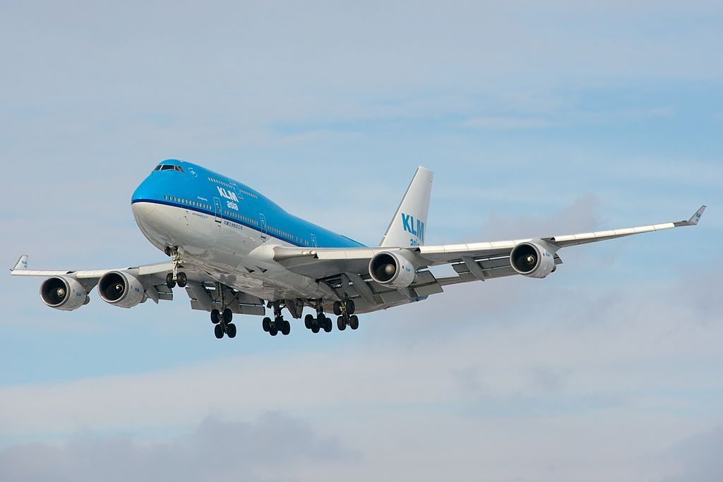 PH BFH KLM Asia Boeing 747 400M City of Hongkong landing at Toronto Pearson International Airport
