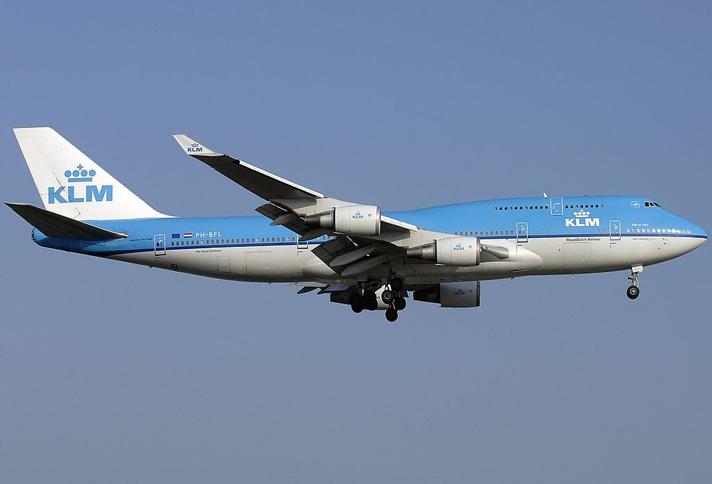PH BFL Boeing 747 406 KLM Royal Dutch Airlines City of Lima on final at Amsterdam Airport Schiphol