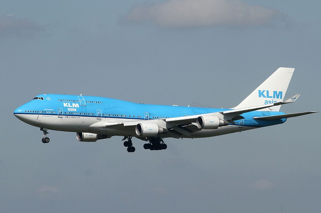 PH BFY KLM Royal Dutch Airlines Boeing 747 406M City of Johannesburg at Narita International Airport