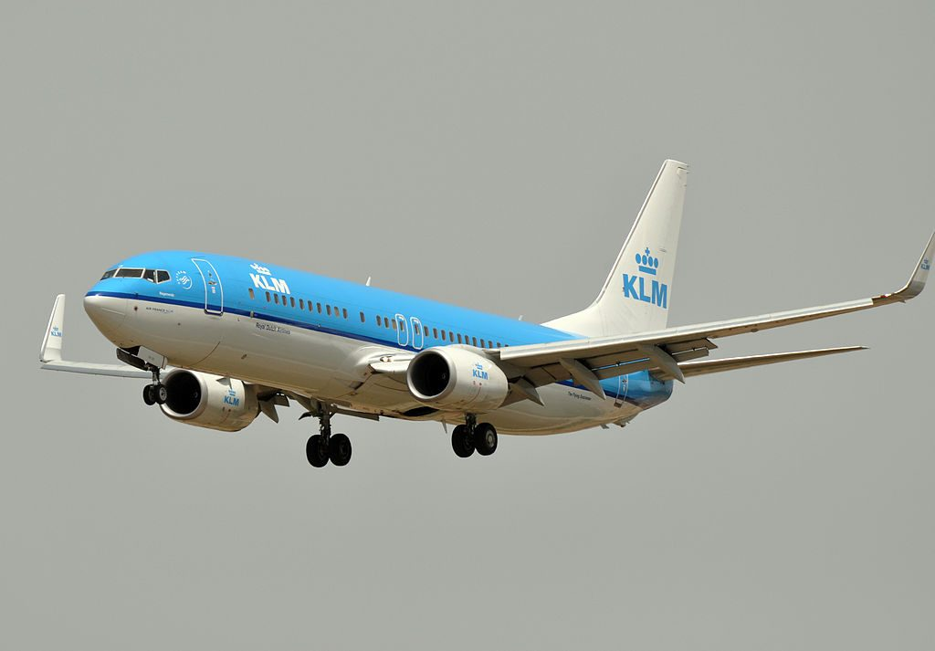 PH BGB Boeing 737 800 of KLM Regenwulp Whimbrel at Barcelona Airport