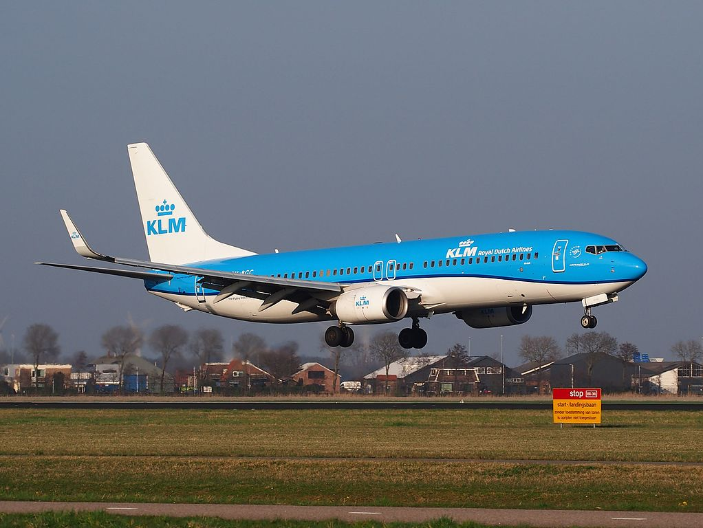 PH BGC KLM Royal Dutch Airlines Boeing 737 8K2WL Pijlstaart Pintail at Schiphol