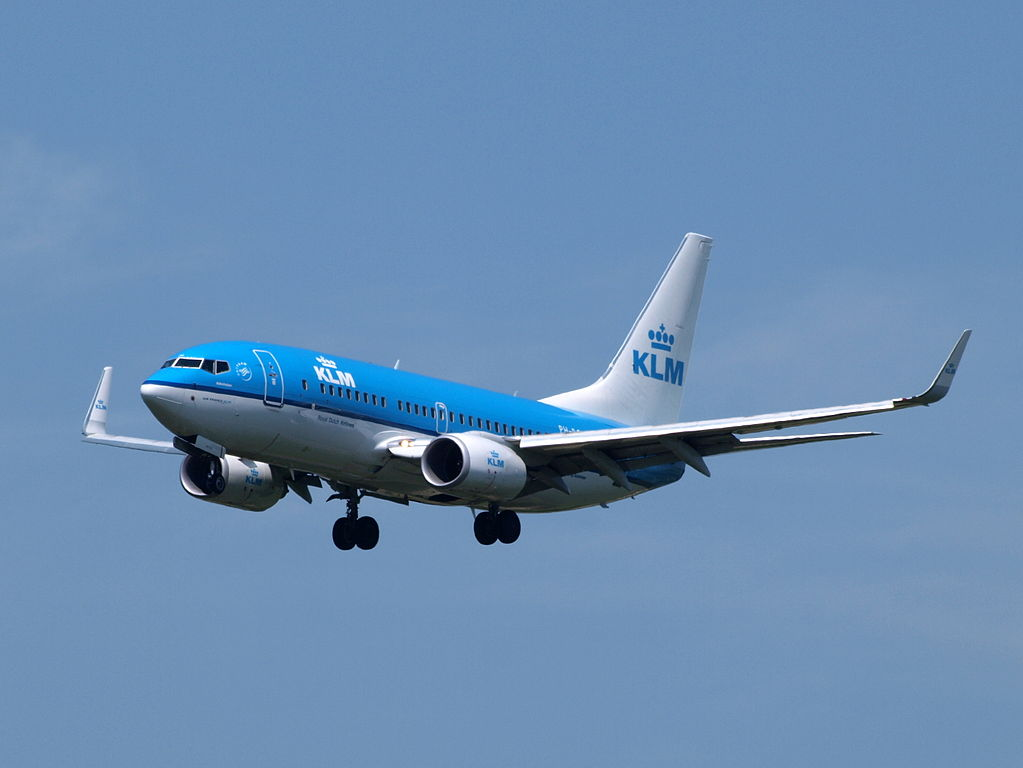 PH BGM KLM Royal Dutch Airlines Boeing 737 7K2WL Aalscholver Cormorant at Amsterdam Airport Schiphol