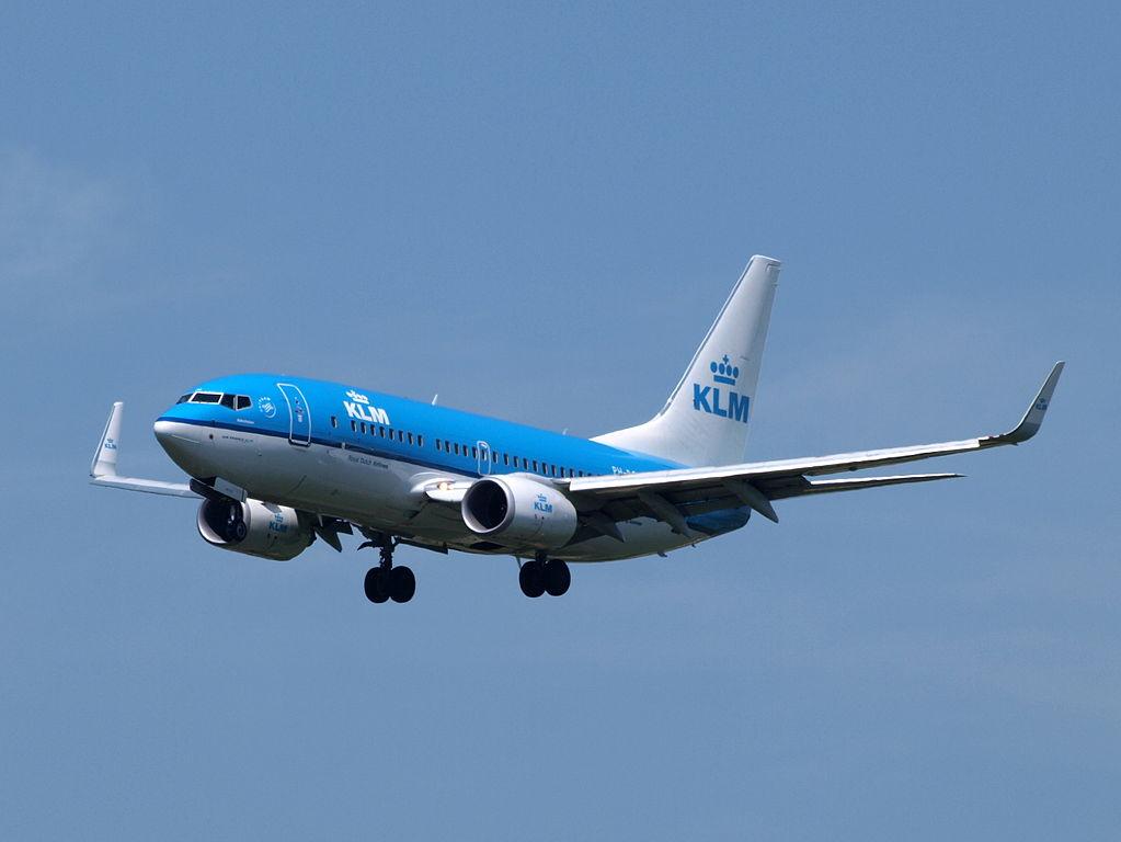 PH BGM KLM Royal Dutch Airlines Boeing 737 7K2WL Aalscholver Cormorant at Amsterdam Airport Schiphol
