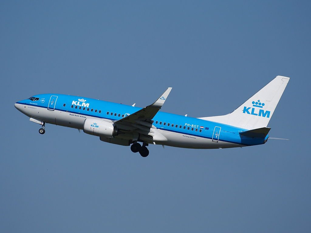 PH BGT KLM Boeing 737 700 Blauwe Kiekendief Hen Harrier takeoff from Schiphol