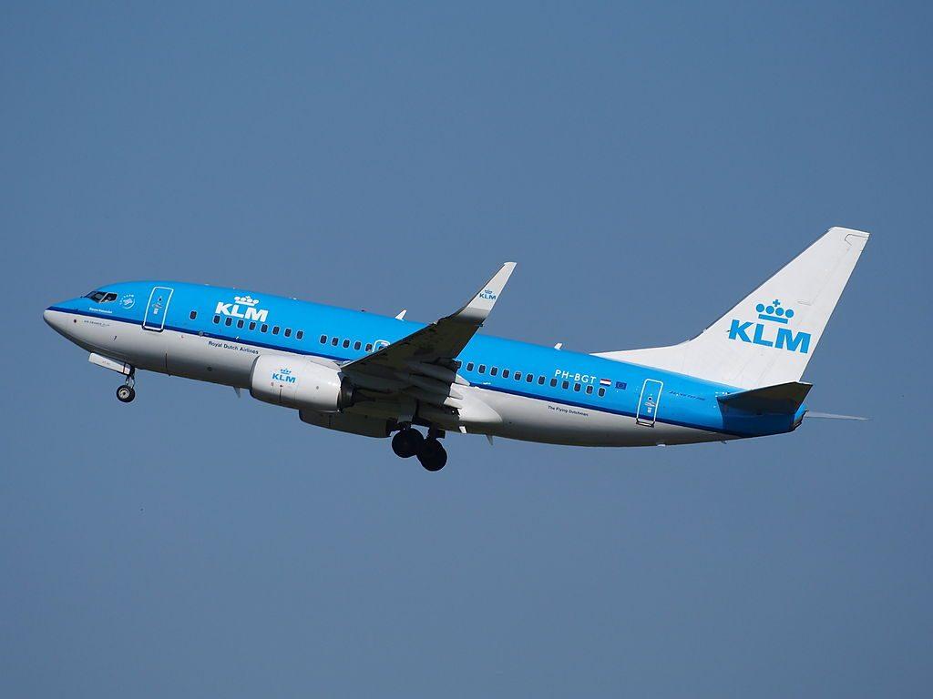 PH BGT KLM Boeing 737 700 Blauwe Kiekendief Hen Harrier takeoff from Schiphol