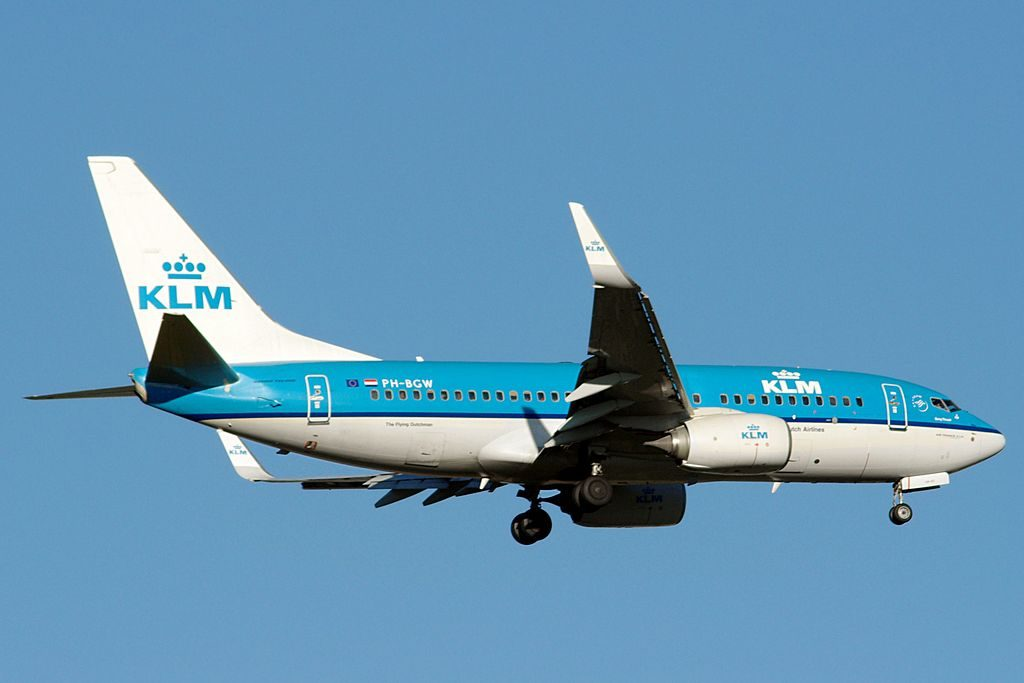 PH BGW Boeing 737 700 of KLM Zanglijster Song Thrush at Bilbao Airport