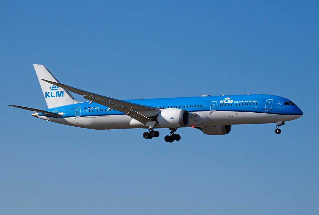 PH BHF Boeing 787 9 Dreamliner of KLM Hibiscus 芙蓉 at Beijing Capital International Airport