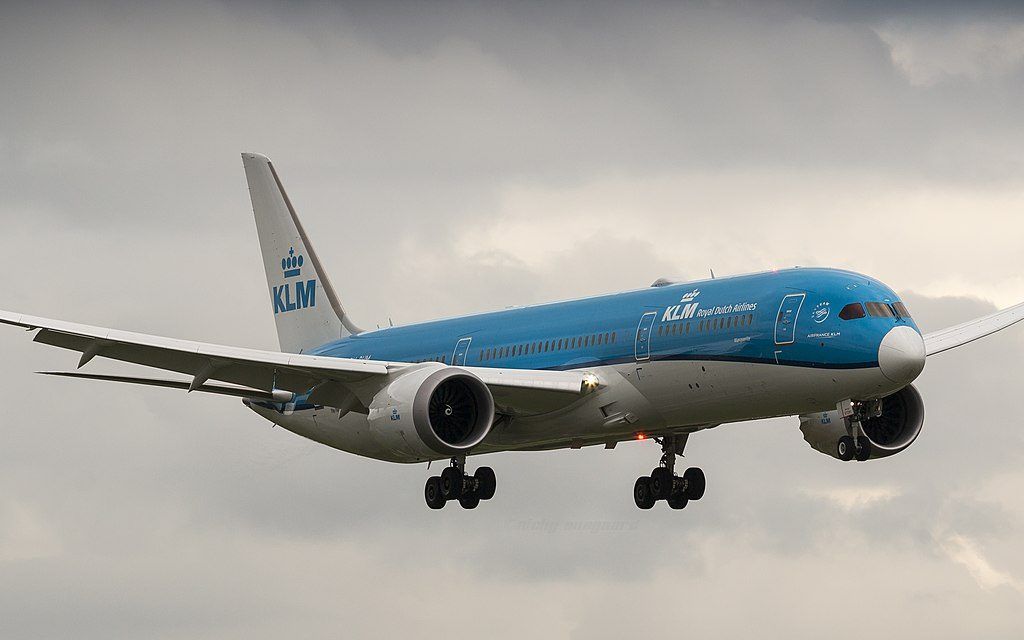 PH BHM KLM Boeing 787 9 Dreamliner Margriet Marguerite on final approach at Amsterdam Airport Schiphol