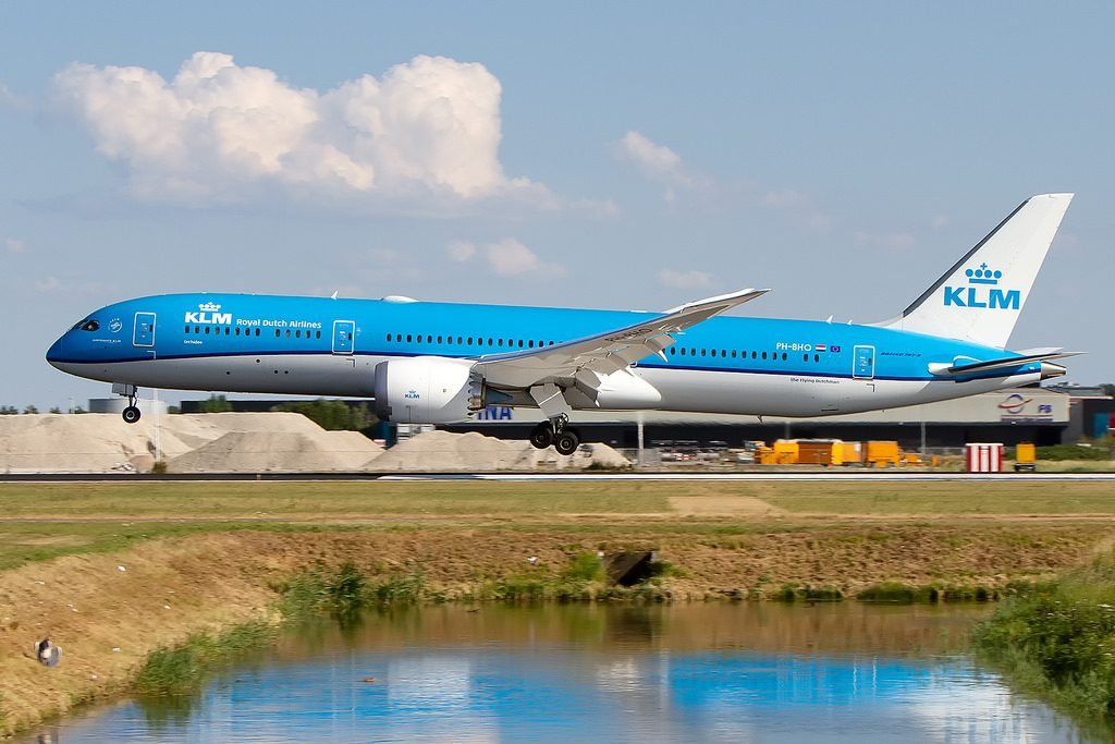 PH BHO Boeing 787 9 Dreamliner KLM Royal Dutch Airlines Orchid Orchidee at Schiphol