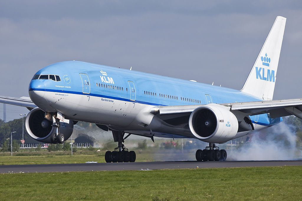 PH BQG Boeing 777 200ER of KLM Galápagos Islands at Amsterdam Airport Schiphol