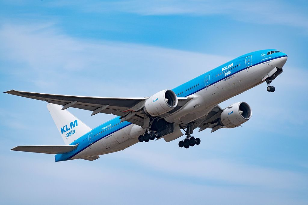 PH BQK Boeing 777 200ER of KLM Mount Kilimanjaro at Narita International Airport