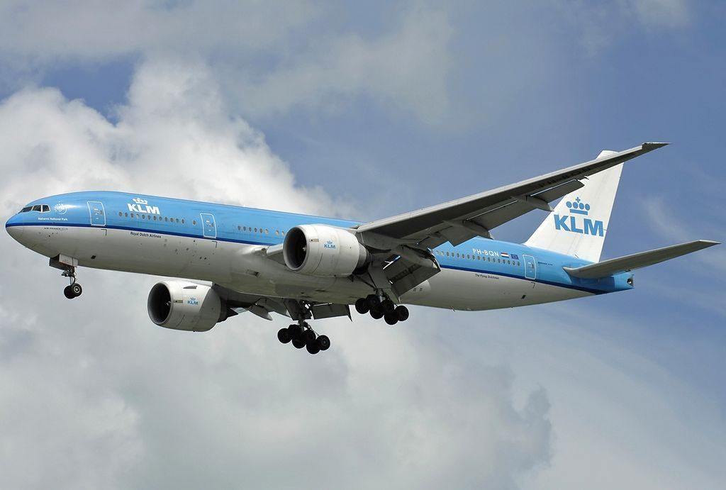 PH BQN Boeing 777 206ER KLM Royal Dutch Airlines Nahanni National Park at Singapore Changi Airport