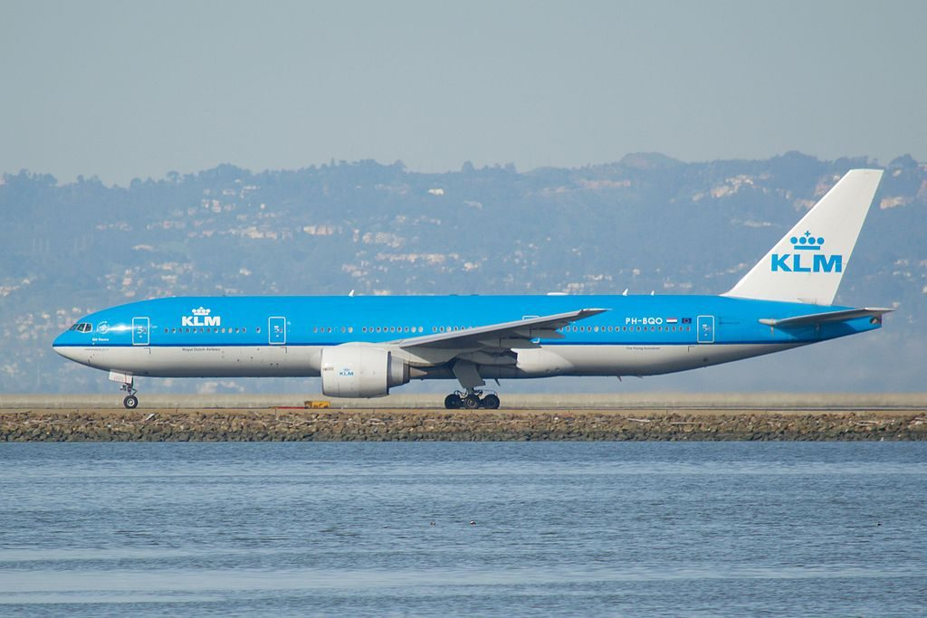 PH BQO Boeing 777 200ER of KLM Old Rauma at San Francisco International Airport