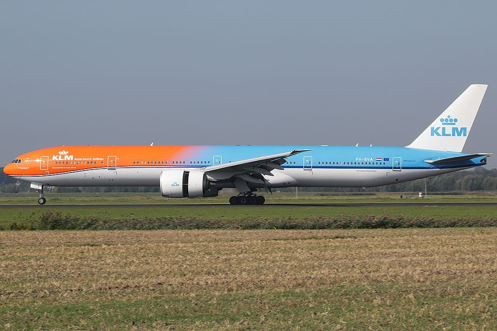 PH BVA KLM Royal Dutch Airlines 22Orange Pride22 special colours Boeing 777 300ER Nationaal Park De Hoge Veluwe