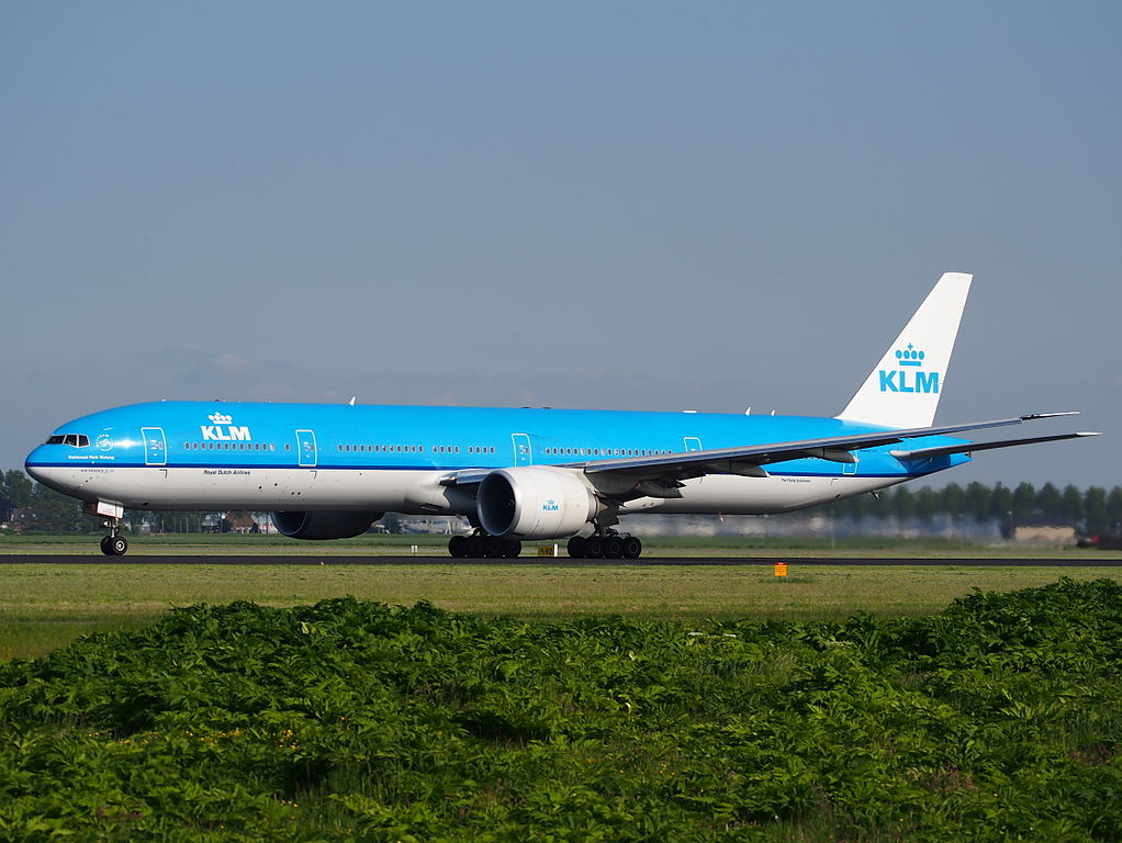 PH BVG KLM Boeing 777 300ER Nationaal Park Wolong takeoff from Schiphol AMS EHAM