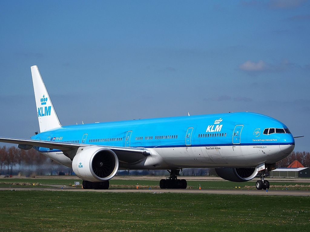 PH BVI KLM Royal Dutch Airlines Boeing 777 306ER Nationaal Park Vuurland at Schiphol