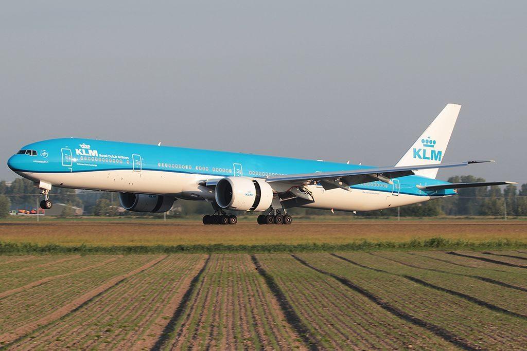 PH BVO KLM Royal Dutch Airlines Boeing 777 300ER Kaziranga National Park landing at Schiphol