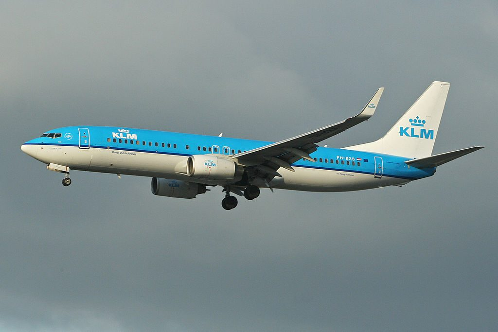 PH BXB Boeing 737 8K2 KLM Royal Dutch Airlines Valk Falcon at London Heathrow