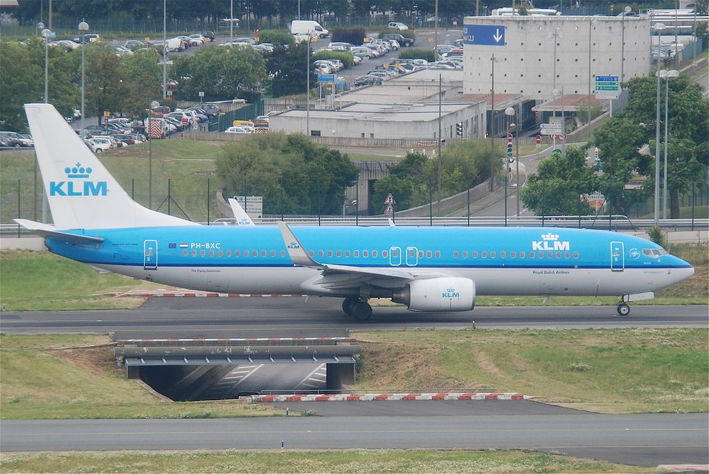PH BXC KLM Boeing 737 8K2 PH BXC Korhoen Grouse at Paris Charles de Gaulle Airport CDG