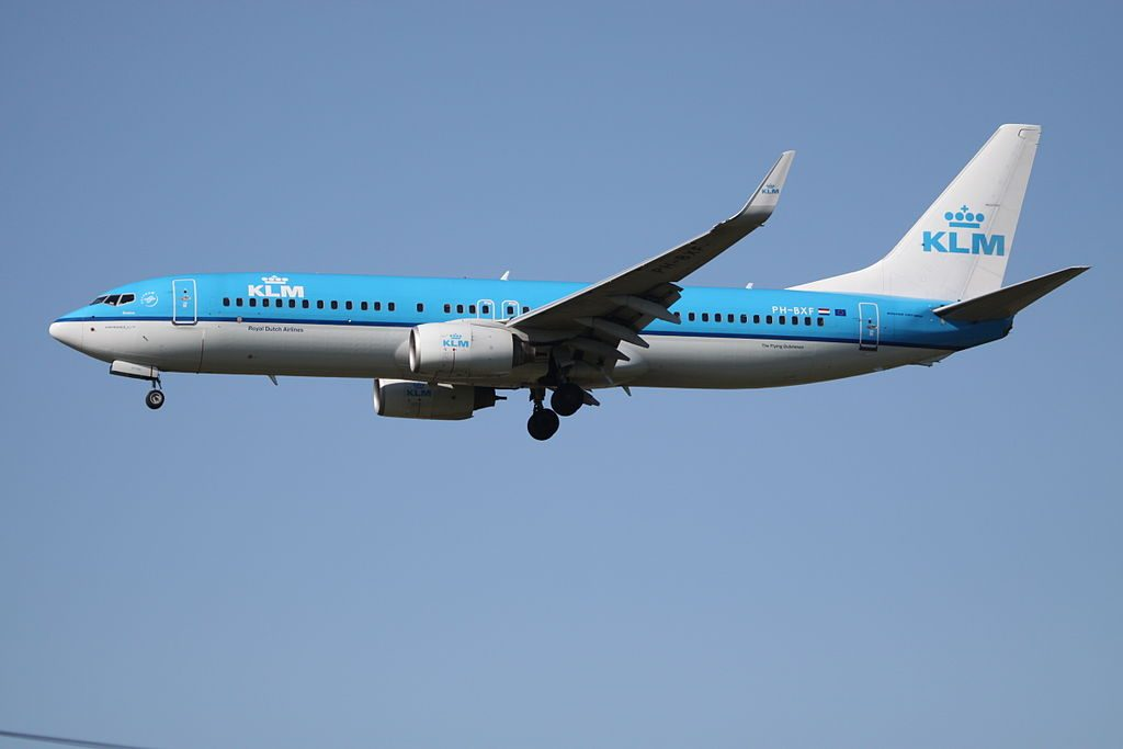 PH BXF Boeing 737 800WL KLM Royal Dutch Airlines Zwaluw Swallow at London Heathrow Airport