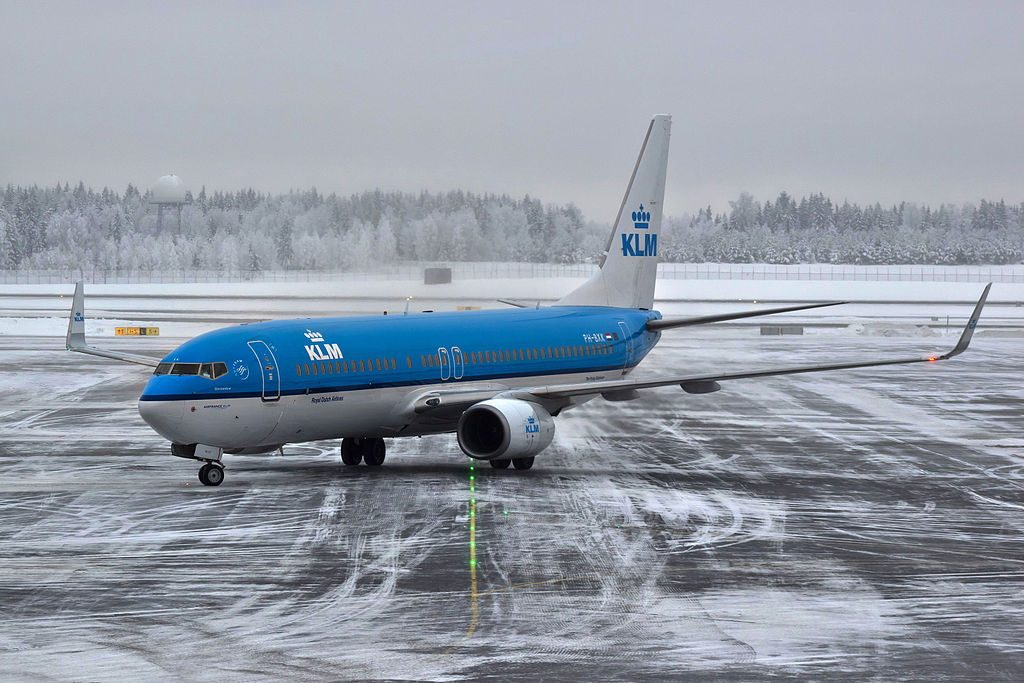 PH BXK Boeing 737 800 of KLM Gierzwaluw Swift at Oslo Airport Gardermoen